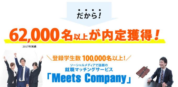年間内定獲得数5000人・イベント開催数650回以上!就活生の5人に1人が利用している「MeetsCompany」